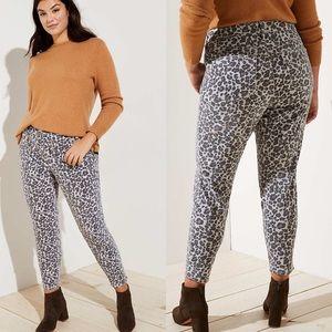 🌿 LOFT Plus Skinny Jeans in Leopard Print